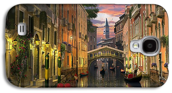 Meiklejohn Graphics - Galaxy S4 Cases - Venice at Dusk Galaxy S4 Case by Dominic Davison