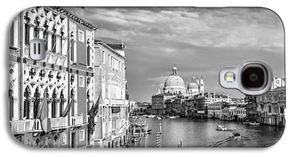Ancient Galaxy S4 Cases - VENICE Canal Grande Santa Maria della Salute black and white Galaxy S4 Case by Melanie Viola