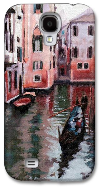 Best Sellers -  - Janet King Galaxy S4 Cases - Venice Gondola Ride Galaxy S4 Case by Janet King