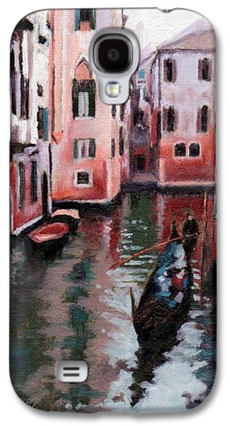 Janet King Galaxy S4 Cases - Venice Gondola Ride Galaxy S4 Case by Janet King