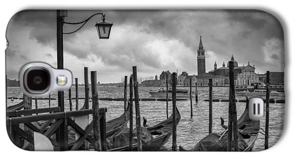Ancient Galaxy S4 Cases - VENICE Gondolas in black and white Galaxy S4 Case by Melanie Viola