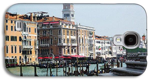 San Marco Galaxy S4 Cases - Venice Gondolas on Canal Grande Galaxy S4 Case by Irina Sztukowski