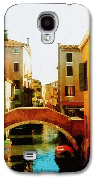 Old Man Digital Art Galaxy S4 Cases - Venice Italy Canal with Boats and Laundry Galaxy S4 Case by Michelle Calkins