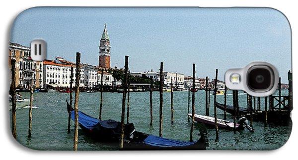 San Marco Galaxy S4 Cases - Venice Italy Gondola View on Doge Palace Galaxy S4 Case by Irina Sztukowski