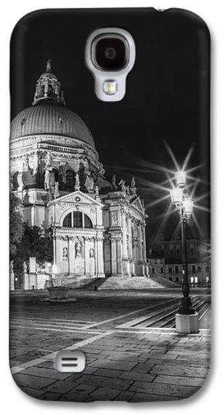 Ancient Galaxy S4 Cases - VENICE Santa Maria della Salute black and white Galaxy S4 Case by Melanie Viola