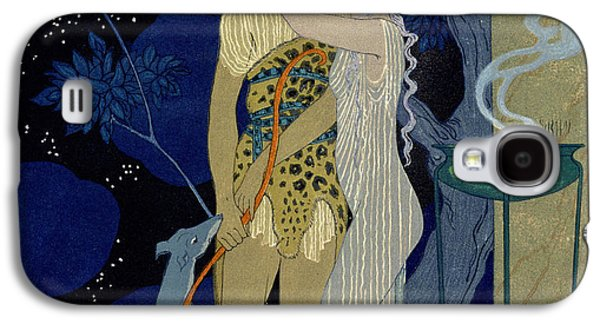 Goddess Paintings Galaxy S4 Cases - Venus and Adonis  Galaxy S4 Case by Georges Barbier