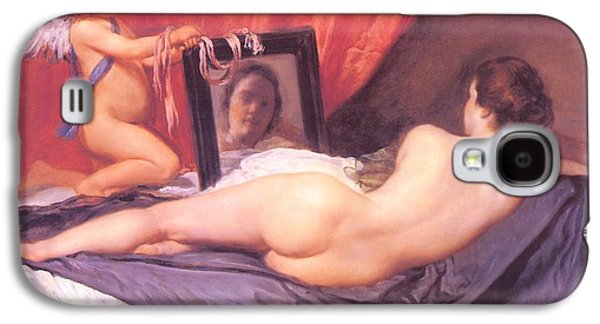 Historical Images Galaxy S4 Cases - Venus at Her Mirror Galaxy S4 Case by Diego Rodriguez de Silva Velazquez