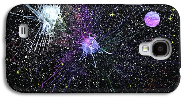 Outer Space Glass Art Galaxy S4 Cases - Venus Galaxy S4 Case by Wolfgang Finger