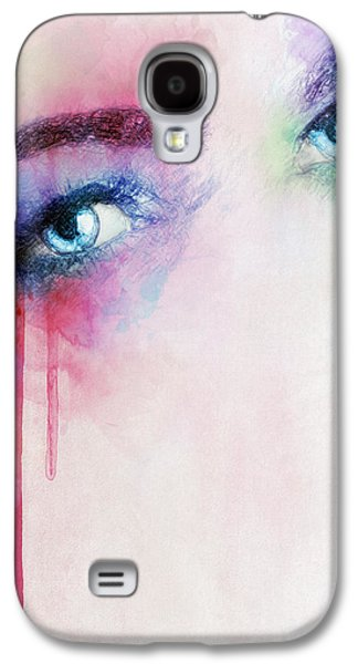 Tear Drawings Galaxy S4 Cases - Vera Galaxy S4 Case by Taylan Soyturk