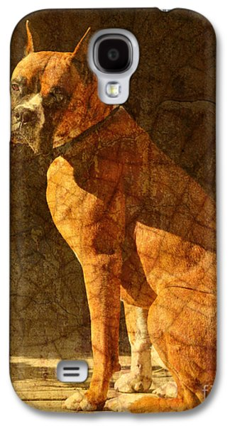 Recently Sold -  - Boxer Digital Galaxy S4 Cases - Vermeers Dog Galaxy S4 Case by Judy Wood