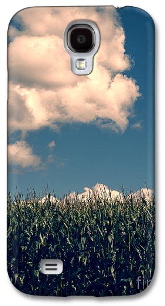 Field. Cloud Galaxy S4 Cases - Vermont Cornfield Galaxy S4 Case by Edward Fielding