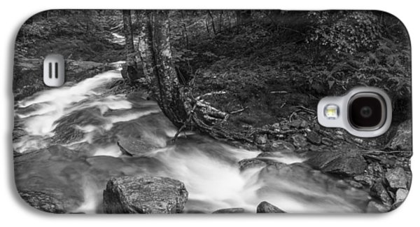 White River Scene Photographs Galaxy S4 Cases - Vermont forest foliage black and white waterfall Galaxy S4 Case by Andy Gimino