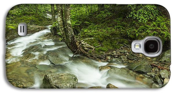 White River Scene Photographs Galaxy S4 Cases - Vermont forest river waterfall Mount Mansfield Galaxy S4 Case by Andy Gimino