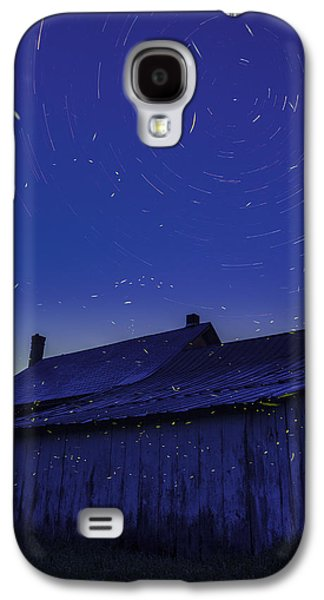 Sunset Abstract Galaxy S4 Cases - Vermont twilight blue hour farmhouse startrails fireflies Galaxy S4 Case by Andy Gimino