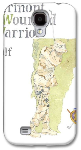 Iraq Posters Galaxy S4 Cases - Vermont Wounded Warrior Golf Tournament Galaxy S4 Case by Al Faxon