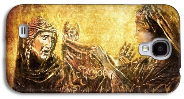 Lianne_schneider Via Dolorosa Print Digital Art Galaxy S4 Cases - Veronica Wipes His Face Via Dolorosa 6 Galaxy S4 Case by Lianne Schneider