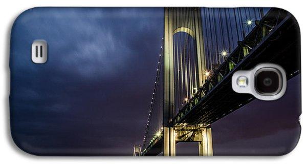 Connect Photographs Galaxy S4 Cases - Verrazano-Narrows Bridge Galaxy S4 Case by Johnny Lam