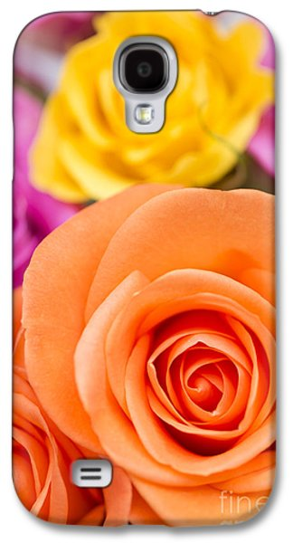 Rosaceae Galaxy S4 Cases - Very Bold Bunch Galaxy S4 Case by Anne Gilbert