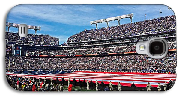 Veterans Stadium Galaxy S4 Cases - Veterans Day in Baltimore Galaxy S4 Case by Chris Montcalmo