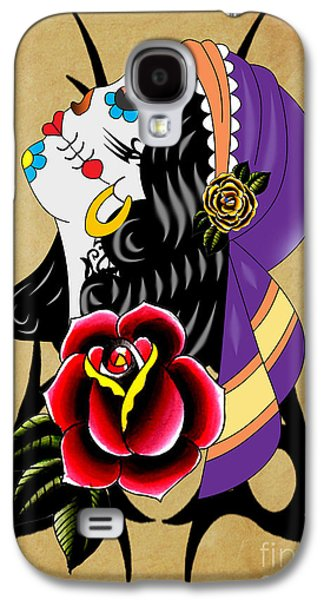 Animation Galaxy S4 Cases - Via De Los Muertos 2 Galaxy S4 Case by Mark Ashkenazi
