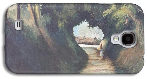 Water Jars Paintings Galaxy S4 Cases - Via Della Fonte Galaxy S4 Case by Debra Jerome