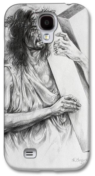 Religious Drawings Galaxy S4 Cases - Via Dolorosa Galaxy S4 Case by Derrick Higgins