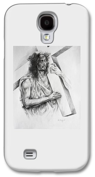 Best Sellers -  - Religious Drawings Galaxy S4 Cases - Via Dolorosa Galaxy S4 Case by Derrick Higgins