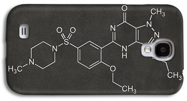 Pill Galaxy S4 Cases - Viagra Molecular Structure Gray Galaxy S4 Case by Nikki Marie Smith