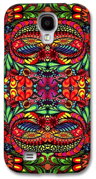 Abstracts Glass Art Galaxy S4 Cases - Vibrancy  Galaxy S4 Case by Bella Mkrtchian