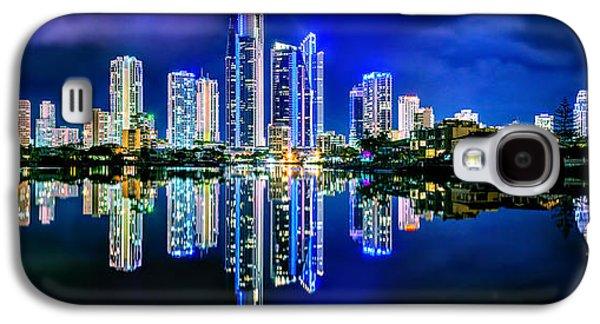 Light Galaxy S4 Cases - Gold Coast Shines Galaxy S4 Case by Az Jackson