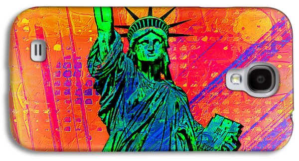 Statue Galaxy S4 Cases - Vibrant Liberty Galaxy S4 Case by Az Jackson