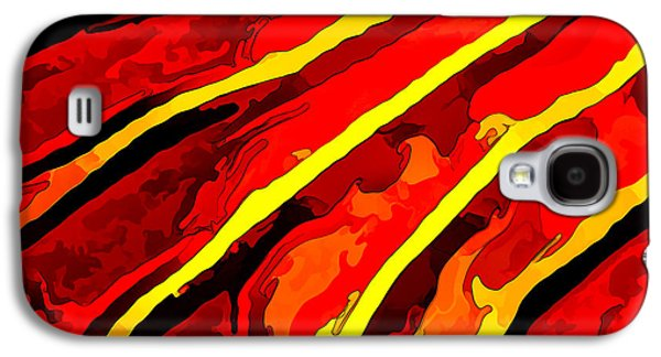 Photo Manipulation Galaxy S4 Cases - Vibrant Viburnum Abstract 1 in Red Galaxy S4 Case by Bill Caldwell -        ABeautifulSky Photography