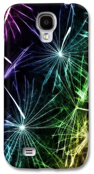 Weed Line Galaxy S4 Cases - Vibrant Wishes Galaxy S4 Case by Marianna Mills