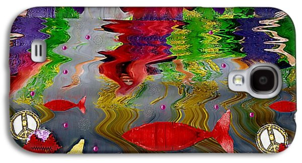 Goldfish Mixed Media Galaxy S4 Cases - Vice Versa Pop Art Galaxy S4 Case by Pepita Selles
