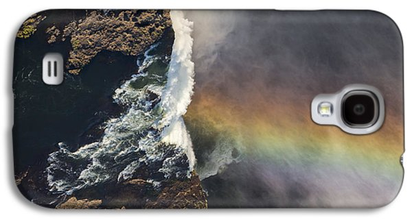 Victoria Falls And Rainbow Zimbabwe Galaxy S4 Case by Vincent Grafhorst