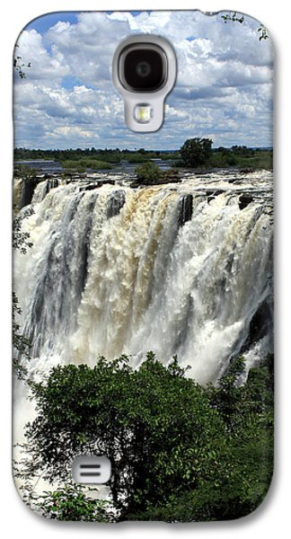 African Heritage Galaxy S4 Cases - Victoria Falls On The Zambezi River Galaxy S4 Case by Aidan Moran