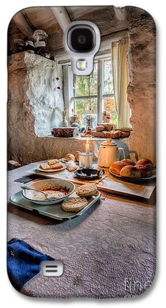 Working Class Galaxy S4 Cases - Victorian Cottage Breakfast Galaxy S4 Case by Adrian Evans
