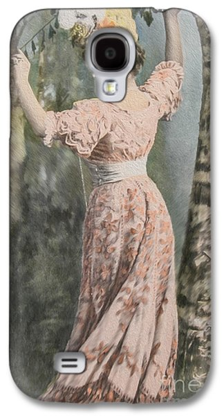 Adorable Digital Art Galaxy S4 Cases - Victorian lady in beautiful dress Galaxy S4 Case by Patricia Hofmeester