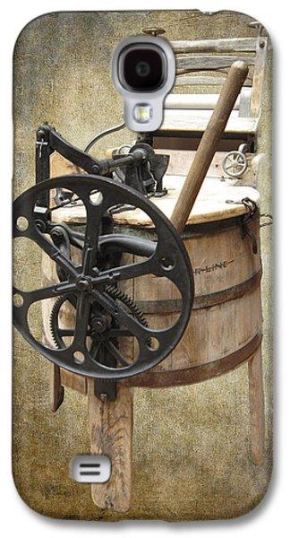 Washing Machine Galaxy S4 Cases - Victorian Wash Machine Galaxy S4 Case by Daniel Hagerman