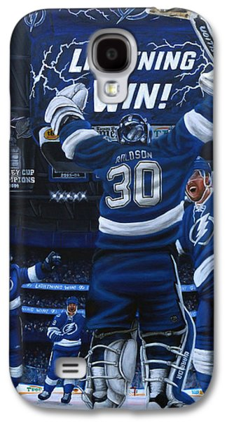 Hockey Paintings Galaxy S4 Cases - Victory Galaxy S4 Case by Marlon Huynh