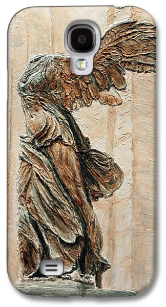 Nike Paintings Galaxy S4 Cases - Victory of Samothrace Galaxy S4 Case by Joey Agbayani