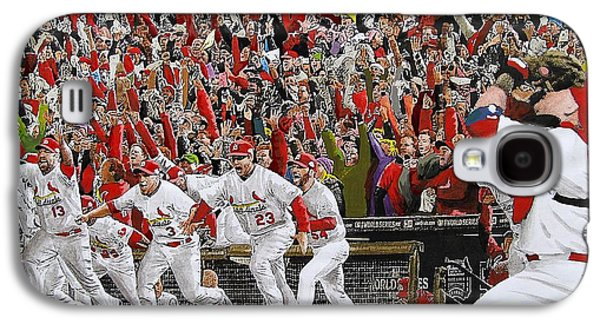 Victory - St Louis Cardinals Win The World Series Title - Friday Oct 28th 2011 Galaxy S4 Case by Dan Haraga