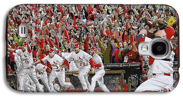 Champions Galaxy S4 Cases - VICTORY - St Louis Cardinals win the World Series Title - Friday Oct 28th 2011 Galaxy S4 Case by Dan Haraga