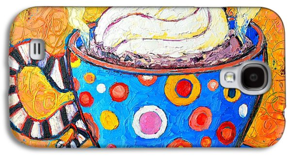 Viennese Cappuccino Whimsical Colorful Coffee Cup Galaxy S4 Case by Ana Maria Edulescu