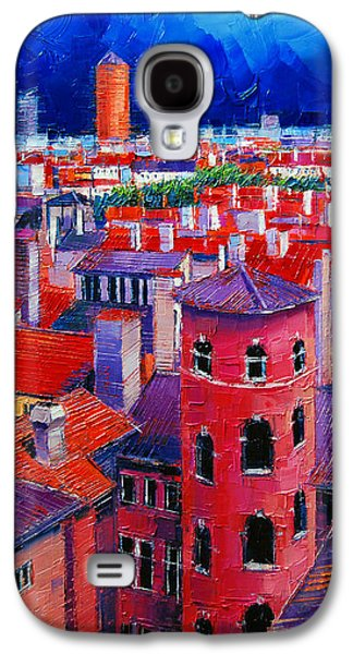 Chimneys Galaxy S4 Cases - Vieux Lyon Rooftops  Galaxy S4 Case by Mona Edulesco
