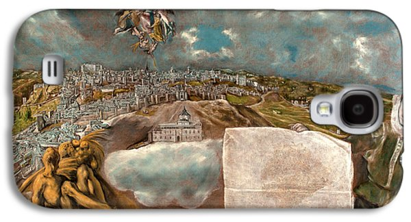 Plans Paintings Galaxy S4 Cases - View and Plan of Toledo Galaxy S4 Case by El Greco