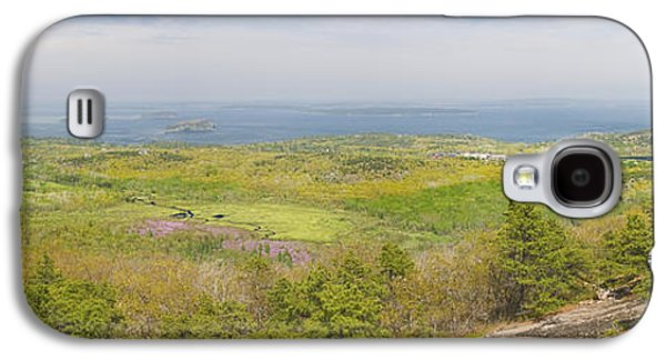 Maine Meadow Galaxy S4 Cases - View From Dorr Mountain Over Great Meadow Acadia National Park Maine Galaxy S4 Case by Keith Webber Jr