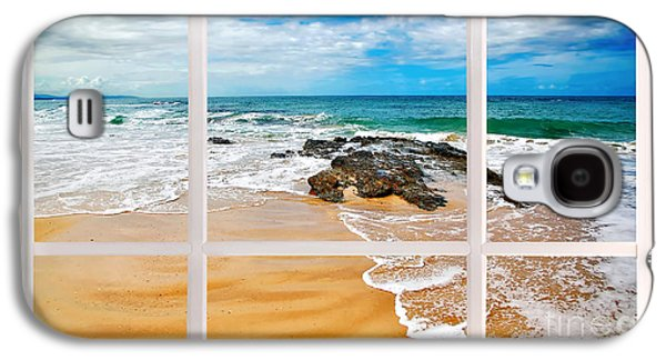 My Ocean Galaxy S4 Cases - View from my Beach House Window Galaxy S4 Case by Kaye Menner