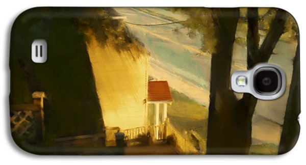 Abstract Landscape Galaxy S4 Cases - View from my Window on a Summer Afternoon  B-11 Galaxy S4 Case by Diane Strain