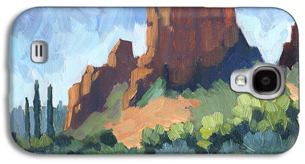 Cathedral Rock Galaxy S4 Cases - View of Cathedral Rock Sedona Galaxy S4 Case by Diane McClary